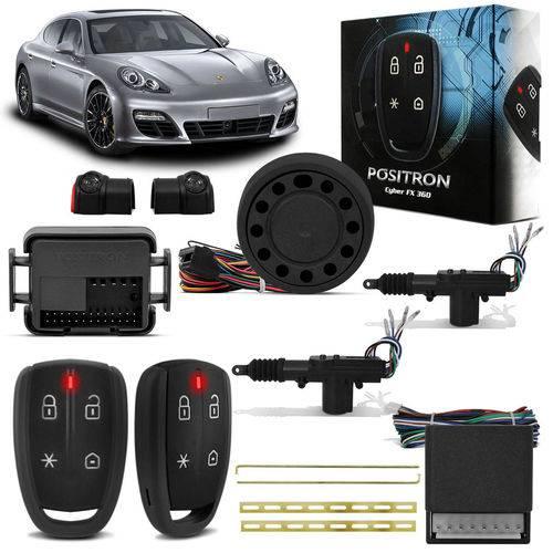 Kit Alarme Pósitron Cyber FX360 Universal Bluetooth + Trava Elétrica 2 Portas Dupla Serventia