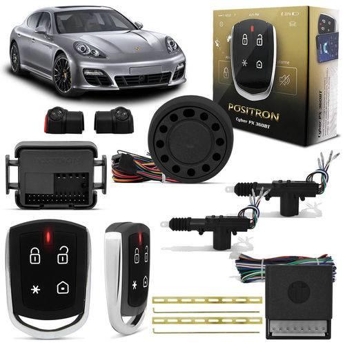 Kit Alarme Pósitron Cyber Px360bt Universal Bluetooth Android ou Ios + Trava Elétrica 2 Portas