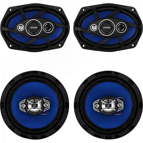 Kit Alto Falante Quadriaxial 6x9´´ + 6´´ 55w Rms 4 Ohms Orion