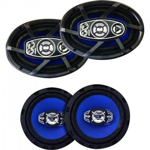 "Kit Alto Falante Quadriaxial 6x9"" + 6"" 100w Rms 4 Ohms Orion"