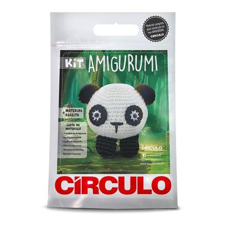 Kit Amigurumi Círculo - Panda