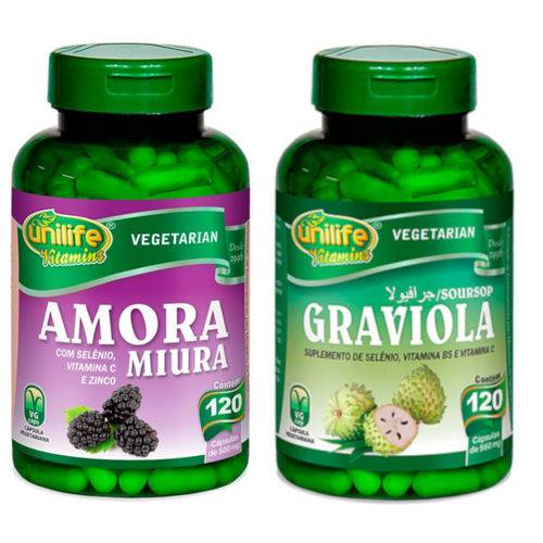 Kit Amora Miura com Vitaminas e Graviola Unilife