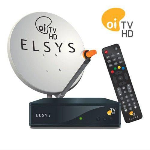 Kit Antena com Receptor Oi Tv Livre Sem Mensalidade 60 Canais de Tv Receptor Oi Tv Livre