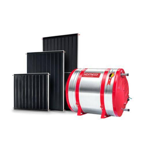 Kit Aquecedor Solar Komeco 300 Litros Baixa Pressão 304 + 2 Coletores 1,5 X 1 Metro
