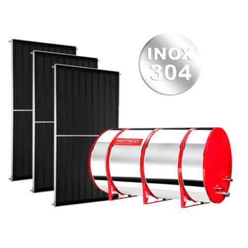 Kit Aquecedor Solar Komeco 300 Litros Baixa Pressão 304 + 2 Coletores 2 X 1 Metro