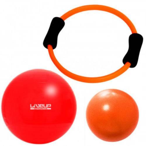 Kit Arco Flexivel + Over Ball 25 Cm + Bola Suica 45 Cm Liveup