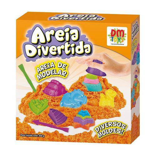 Kit Areia de Modelar Areia Divertida Dm Toys Dmt5127