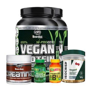 Kit Auxilio Ganho de Massa Magra Vegana Unilife