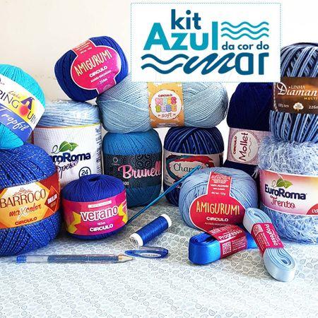 Kit Azul da Cor do Mar