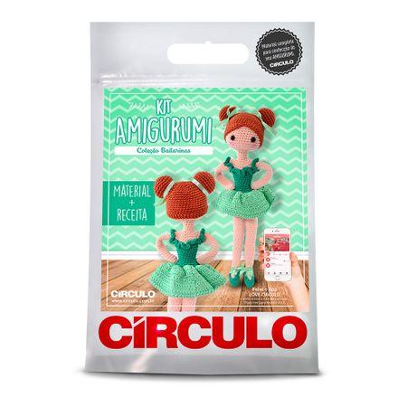 Kit Bailarinas Amigurumi Círculo - Maria Clara