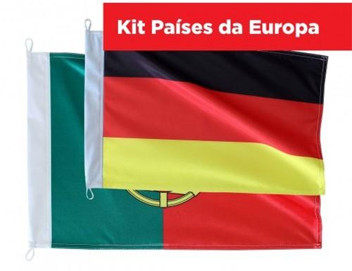 Kit Bandeiras Países da Europa KITEUR745