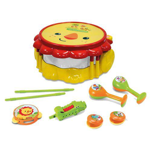Kit Bandinha Infantil Fun Fisher Price Leão
