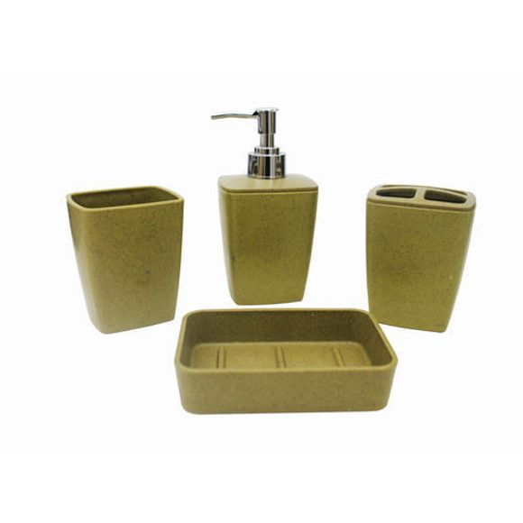 Kit Banheiro 4 Peças Verde Esc 52201 Basic Kitchen