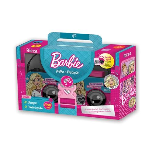 Kit Barbie Ricca Shampoo + Condicionador Brilho e Proteção 250ml