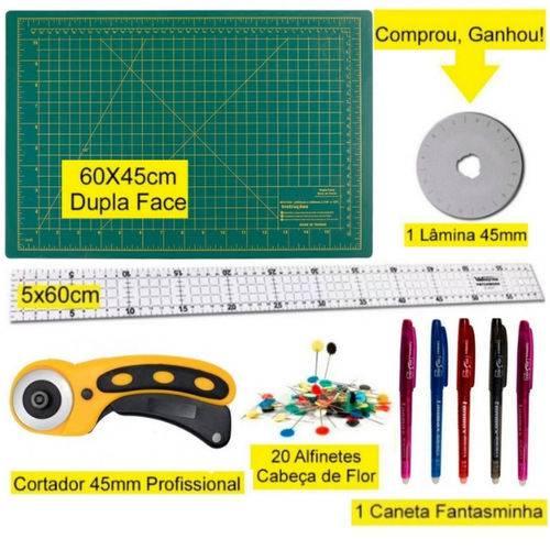 Kit Base de Corte 60x45 - Régua 5x60 - Cortador 45mm