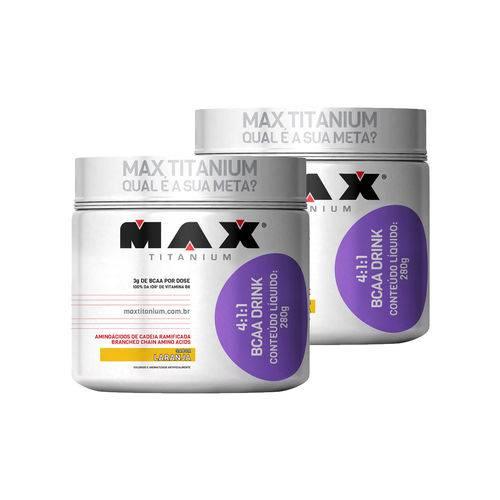 Kit 2 Bcaa Drink 4.1.1 - 280g Max Titanium