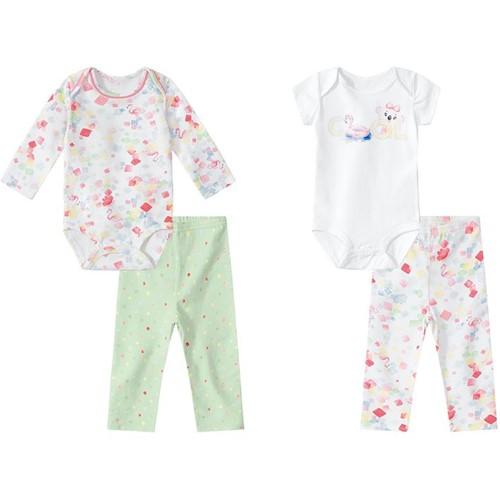 Kie Bebê 4 Pecas Lilica Ripilica Branco Bebê Menina
