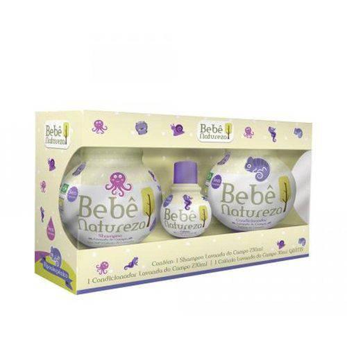 Kit Bebê Natureza Lavanda - Shampoo + Condicionador + Mini Colônia Shampoo + Condicionador + Mini