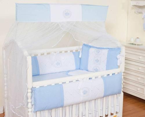 Kit Berço Realeza Azul Bebê