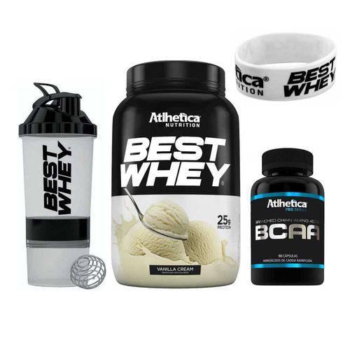 Kit Best Whey 900g (Baunilha) + Bcaa + Shaker