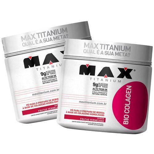 Kit 2 Bio Colagen 300g Max Titanium - Pele e Cabelo