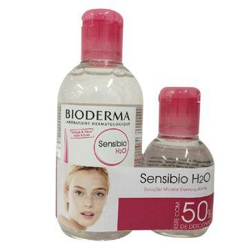 Kit Bioderma Sensibio H2O Micelar 250ml + Sensibio H2O Micelar 100ml com 50% de Desconto no 100ml