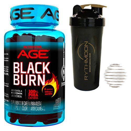 Kit Black Burn 60 Caps + Coqueteleira 600ml com Mola