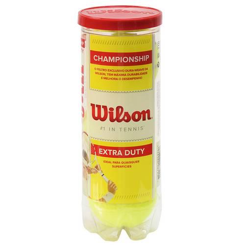 Kit Bola de Tênis Championship Extra Duty - 3 Unidades - Wilson Único Único