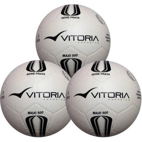 Kit 3 Bolas Futsal Vitória Oficial Maxi 200 Infantil Sub 13