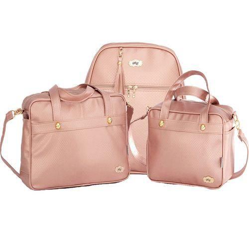Kit Bolsa Maternidade Light Rosê 3 Peças