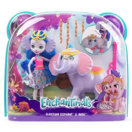Kit Boneca Enchantimals - Elefante Ekaterina e Antic