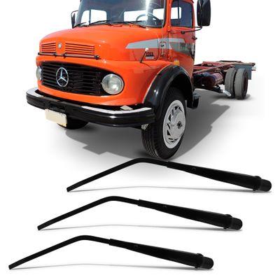 Kit 3 Braço do Limpador do Parabrisa Dianteiro - Caminhão Mercedes 1978 a 1988