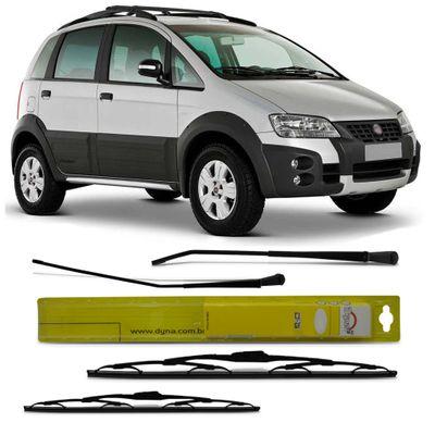 Kit Braço Limpador do Parabrisa Dianteiro - Fiat Idea 2005 a 2011
