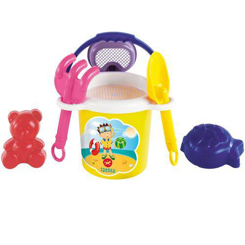 Kit Brinquedos para Praia Super Coloridos 3004 - Calesita