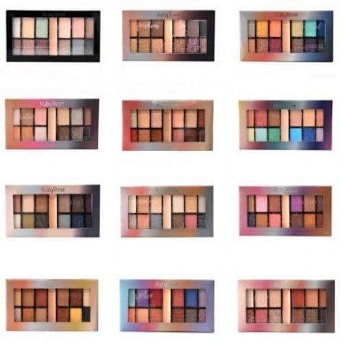 Kit C/ 12 Unid Paleta de Sombras Ruby Rose Eyeshadow Palette HB-9985