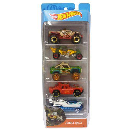 Kit C/ 5 Carrinhos Básicos Hot Wheels Mattel
