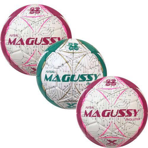 Kit C/ 3 Bolas Magussy Evolution X-fusion Futsal Impermeável