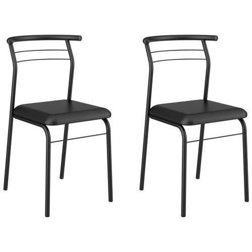 Kit 2 Cadeiras 1708 Preto - Carraro