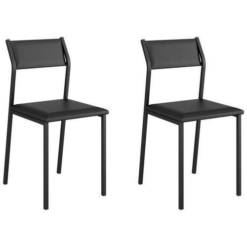 Kit 2 Cadeiras 1709 Preto - Carraro