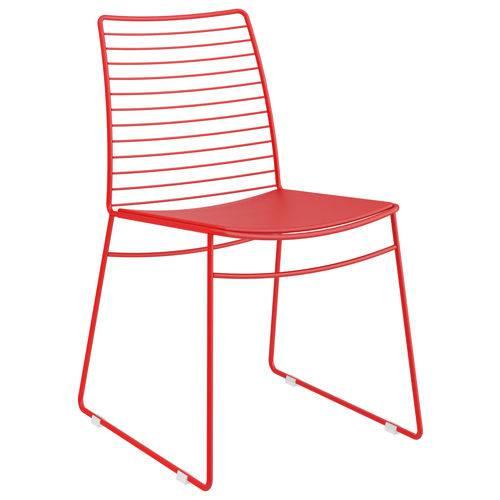 Kit 2 Cadeiras 1712 CourÃssimo Móveis Carraro Vermelho