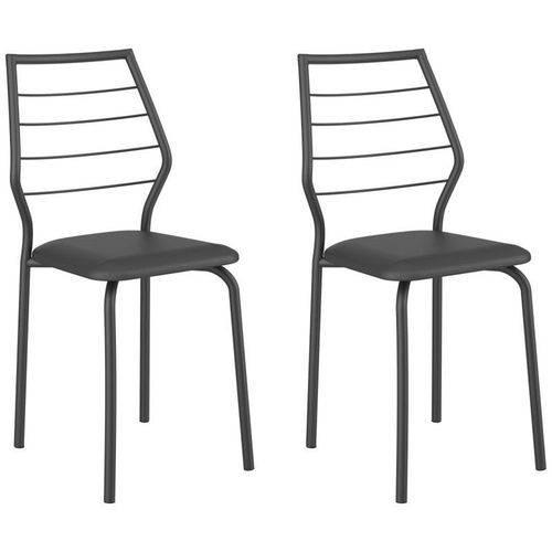 Kit 2 Cadeiras 1716 Preto - Carraro