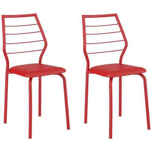 Kit 2 Cadeiras 1716 Vermelho - Carraro