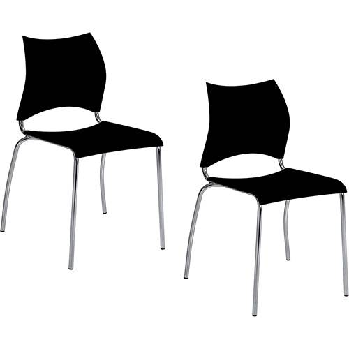 Kit 2 Cadeiras Amanda 357 Preto Carraro
