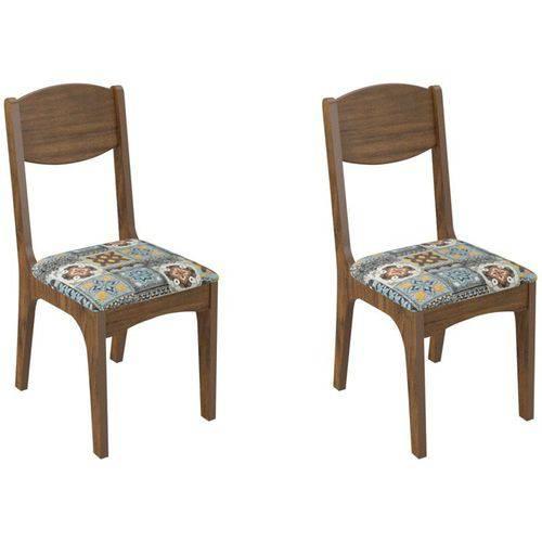 Kit 2 Cadeiras Ca12 para Sala de Jantar Nobre/ladrilho - Dalla Costa