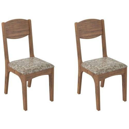 Kit 2 Cadeiras Ca12 para Sala de Jantar Nobre/milano Floral - Dalla Costa