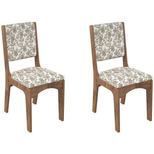 Kit 2 Cadeiras Ca19 para Sala de Jantar Nobre/floral Colorido - Dalla Costa