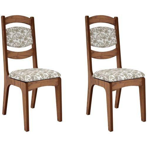 Kit 2 Cadeiras Ca27 para Sala de Jantar Nobre/floral - Dalla Costa