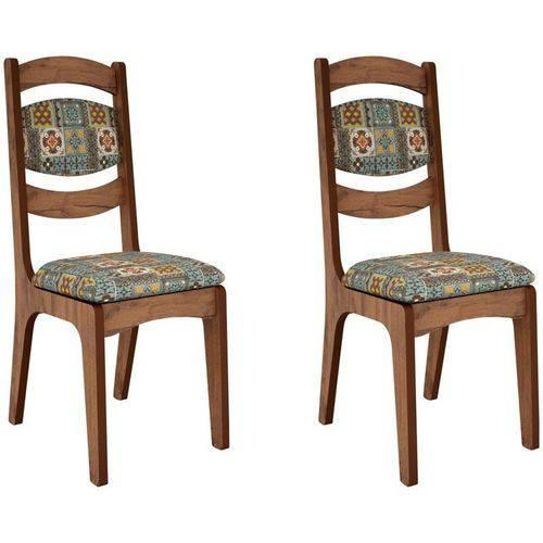 Kit 2 Cadeiras Ca27 para Sala de Jantar Nobre/ladrilho - Dalla Costa