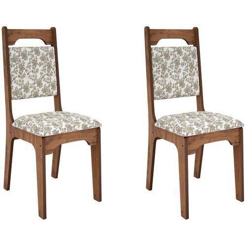 Kit 2 Cadeiras CA29 para Sala de Jantar Nobre/Floral - Dalla Costa
