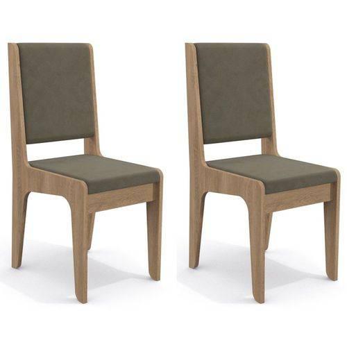Kit 2 Cadeiras Cad103 para Sala de Jantar Nogal/morel - Kappesberg